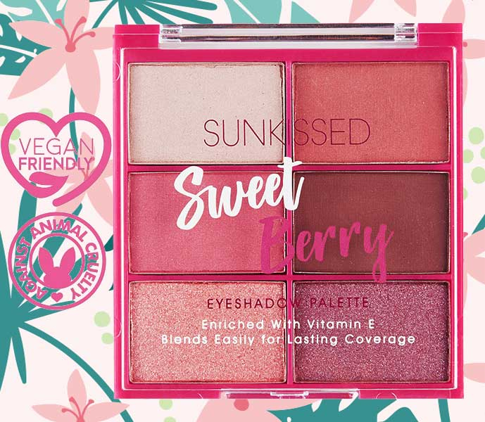 Paleta de farduri SUNKISSED Sweet Berry, 6 Culori, 6 x 2.8 g-big