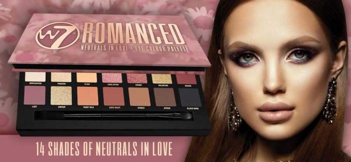 Paleta farduri W7 Romanced Neutrals In Love Eye Colour Palette, 14 culori, 9.6g-big