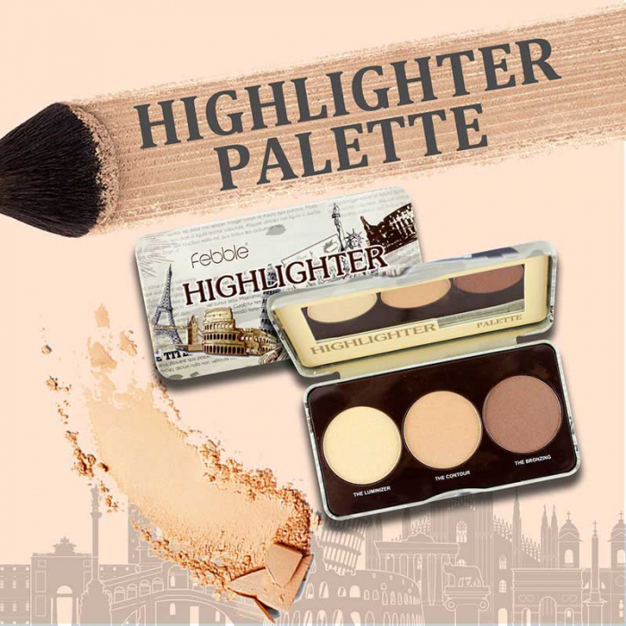 Paleta iluminatoare si conturare Febble Highlighter Palette-big