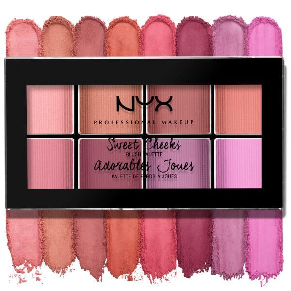 Paleta farduri de obraz NYX Professional Makeup Sweet Cheeks Blush Palette, 8x3.5g-big