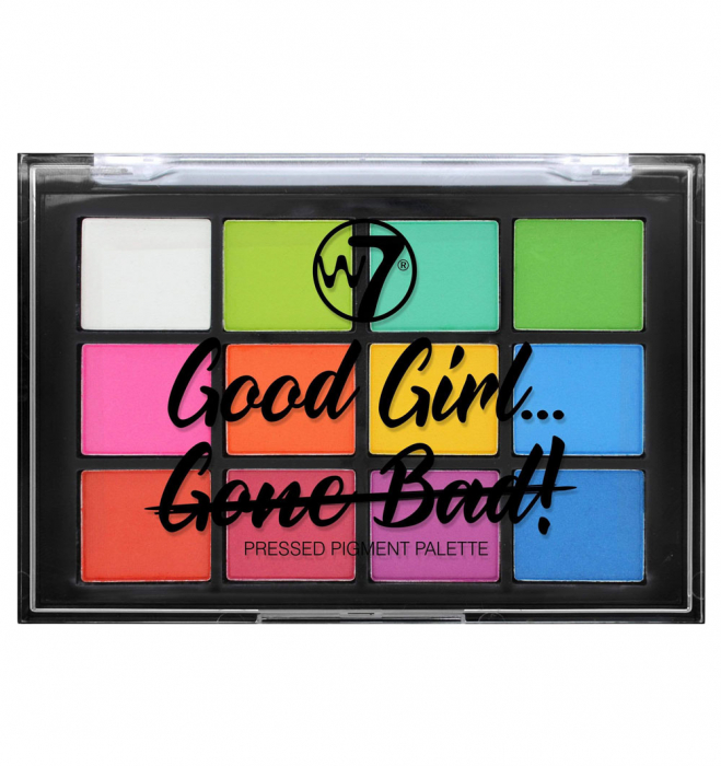 Paleta Farduri W7 Good Girl Gone Bad Pressed Pigment Palette, Good Girl-big