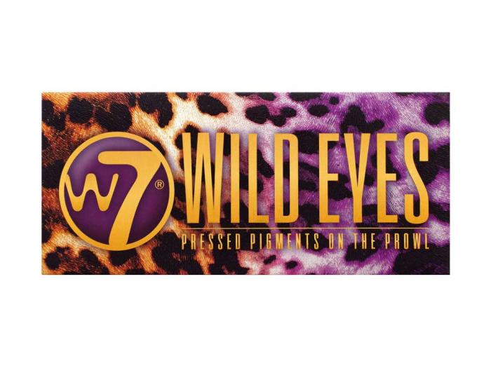 Paleta Profesionala de Farduri W7 Wild Eyes Pressed Pigments On The Prowl, 12 culori, 12 g-big