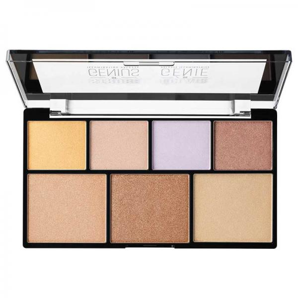 Paleta iluminatoare NYX Professional Makeup Strobe of Genius Illuminating Palette, 7x2g-big