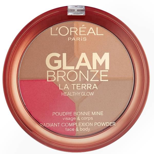Paleta L'Oreal Glam Bronze La Terra Healthy Glow, 01 Light Laguna, 6g-big