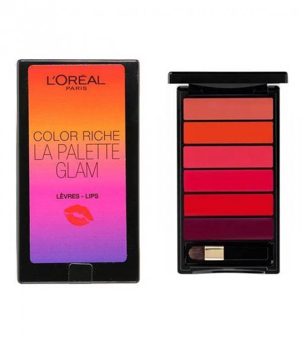 Paleta pentru buze cu 6 rujuri L'Oreal Paris Color Riche LA PALETTE GLAM, 6 x 1 g-big