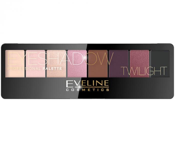 Paleta Profesionala de Farduri EVELINE Twilight Eyeshadow Palette, 8 nuante-big