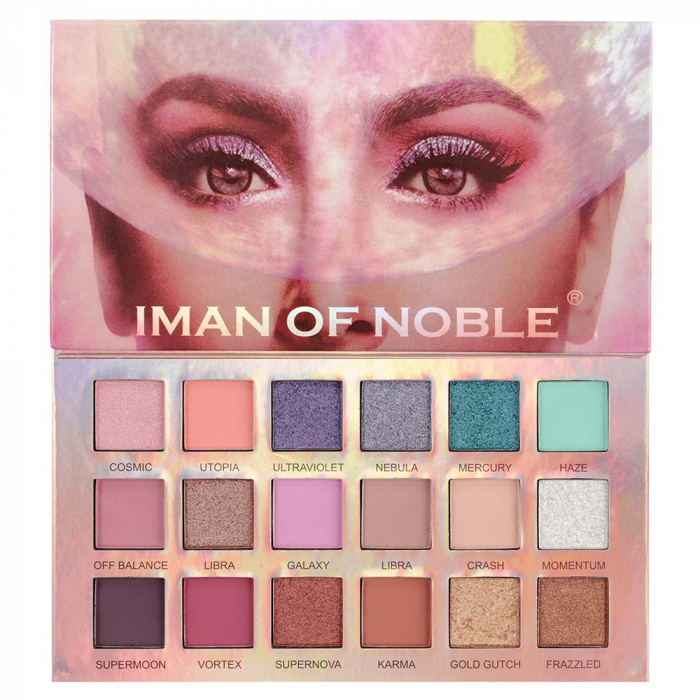 Paleta Profesionala de Farduri Iman Of Noble, 18 Color Eyeshadow Palette, 18 x 1 g-big