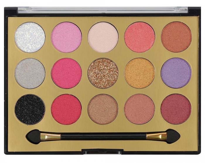 Paleta Profesionala de Farduri MISS ROSE, 15 Color Eyeshadows Kit, 02-big