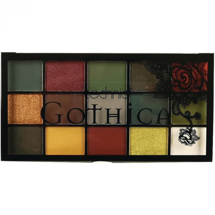 Paleta Profesionala de Farduri Technic 15 Pressed Pigment Palette, GOTHICA, 15 Culori, 30 g-big