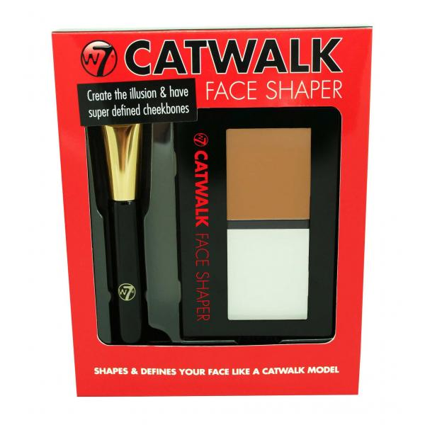 Paleta Pentru Conturarea Si Iluminarea Fetei  W7 CATWALK Face Shaper, 9 gr-big