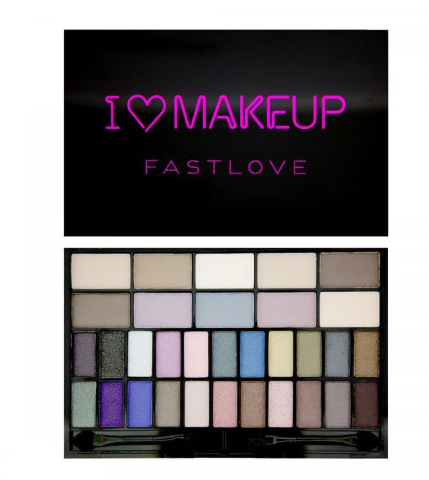 Paleta 32 Farduri Makeup Revolution I Heart Makeup - Fast Love-big