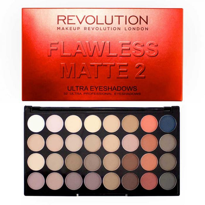 Paleta Cu 32 Farduri Mate Makeup Revolution - Flawless Matte 2-big