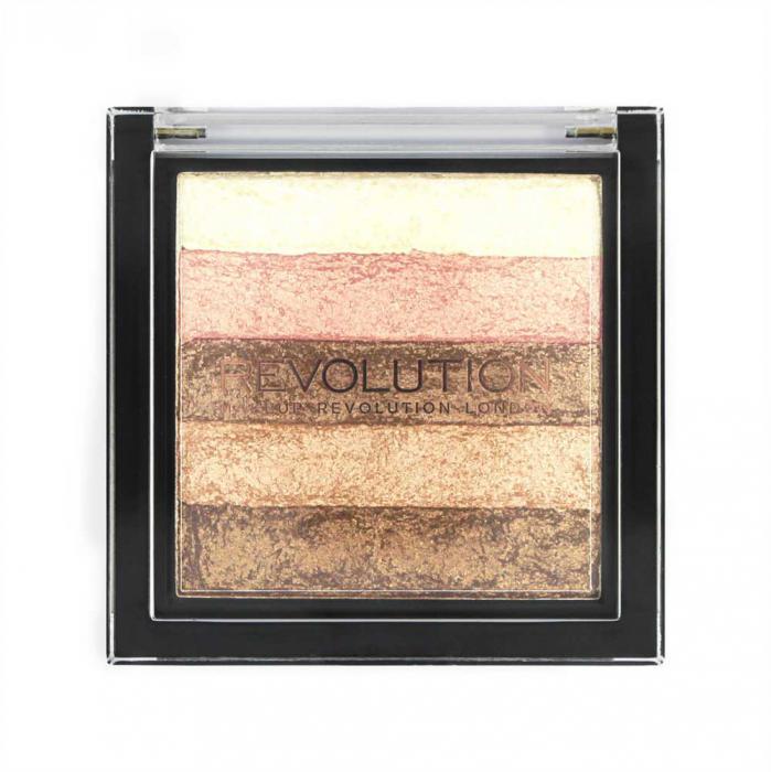 Paleta Iluminatoare Bronzanta MAKEUP REVOLUTION Shimmer Brick Radiant-big