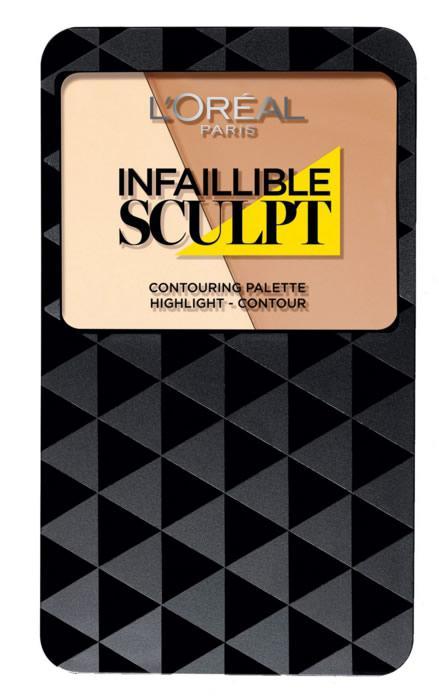 Paleta Pentru Conturarea Fetei L'Oreal Infallible Sculpt - 01 Light / Medium-big