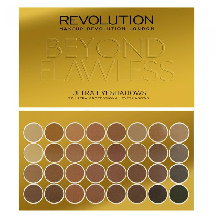 Paleta Profesionala Cu 32 Farduri Makeup Revolution - Beyond Flawless-big