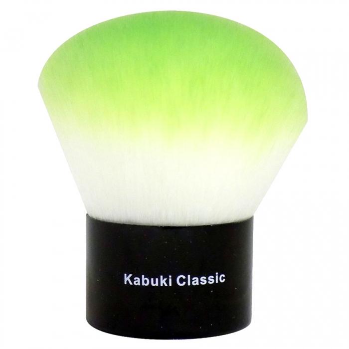 Pensula Profesionala Kabuki London Pride Cosmetics - Kabuki Classic Green-big
