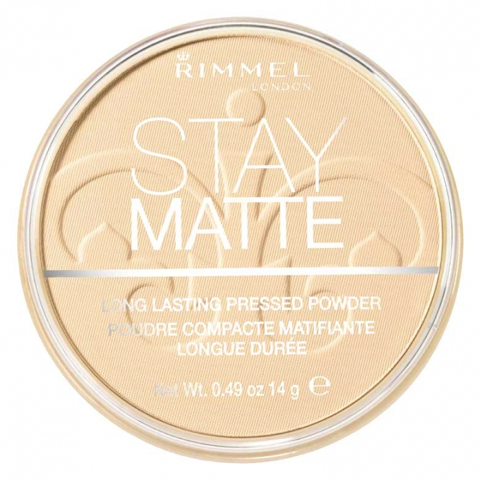 Pudra matifianta rezistenta la transfer RIMMEL Stay Matte, 003 Peach Glow, 14g-big