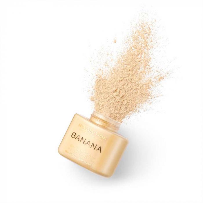 Pudra cu minerale matifianta MAKEUP REVOLUTION Luxury Banana Powder, 42g-big