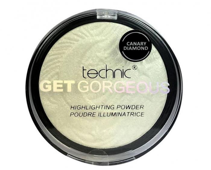 Iluminator Cu Particule Irizante Technic Get Gorgeous Highlighting Powder - Canary Diamond, 12 gr-big