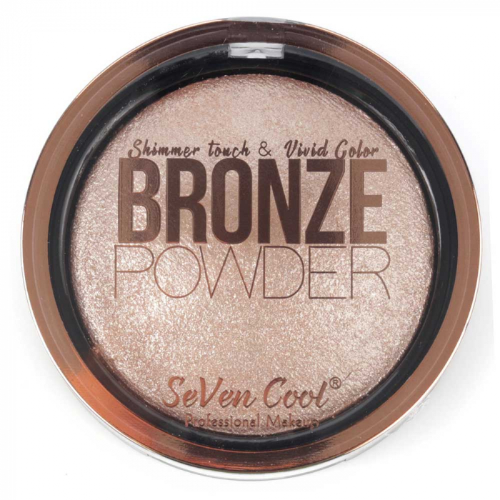 Pudra Profesionala Iluminatoare, Seven Cool, Bronze Powder, Shimmer Touch, 02 Rose Gold-big