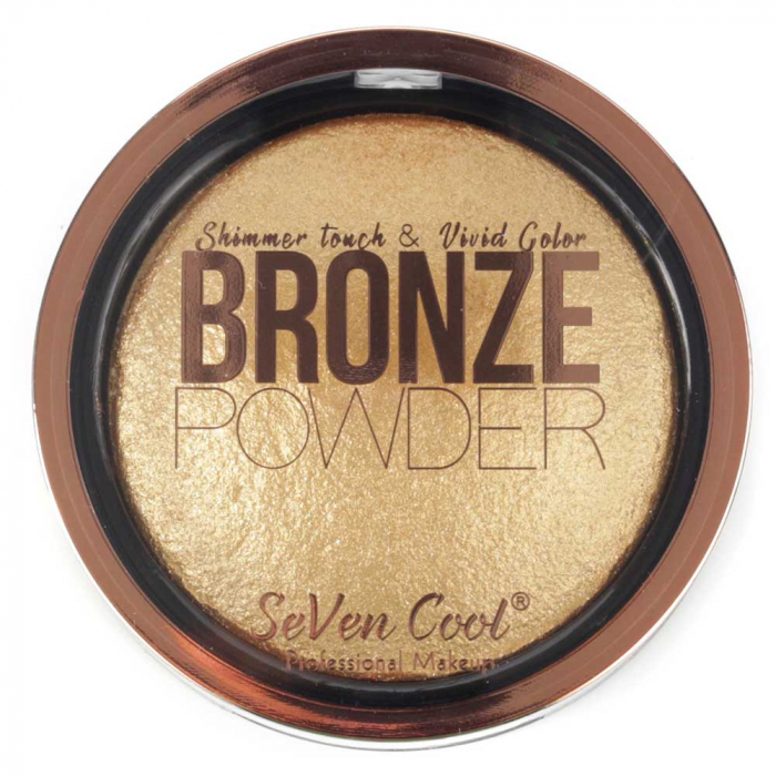 Pudra Profesionala Iluminatoare, Seven Cool, Bronze Powder, Shimmer Touch, 04 Gold-big