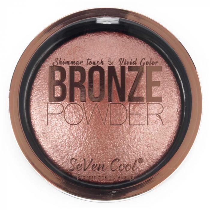 Pudra Profesionala Iluminatoare, Seven Cool, Bronze Powder, Shimmer Touch, 05 Pink Diamond-big