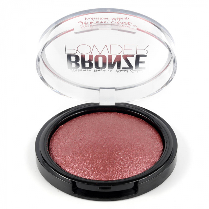 Pudra Profesionala Iluminatoare, Seven Cool, Bronze Powder, Shimmer Touch, 06 Holographic Pink-big