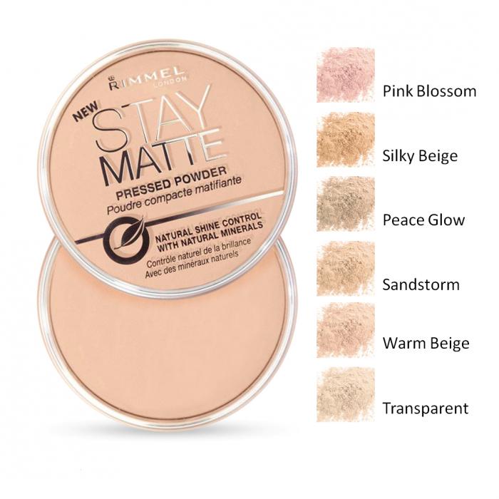Pudra Compacta Rimmel Stay Matte - 002 Pink Blossom-big
