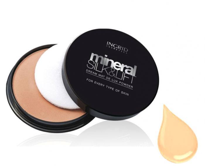 Pudra Compacta Profesionala Ingrid Cosmetics Mineral Silk & Lift - 23 Golden Beige-big