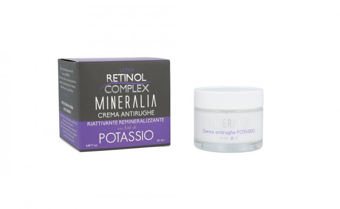Crema antirid reparatoare remineralizanta cu SARURI DE POTASIU, Mineralia, 50 ml-big