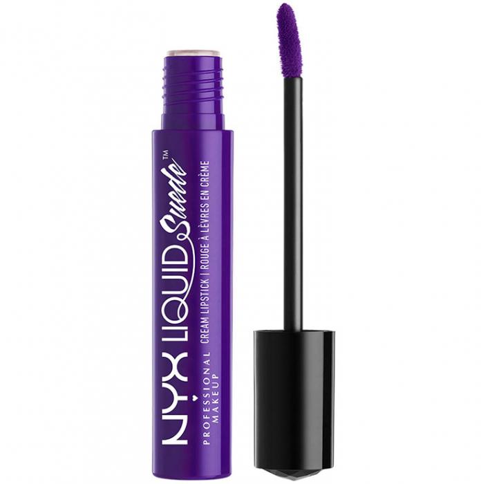 Ruj lichid mat NYX Professional Makeup Liquid Suede Cream, 10 Amethyst, 4 ml-big