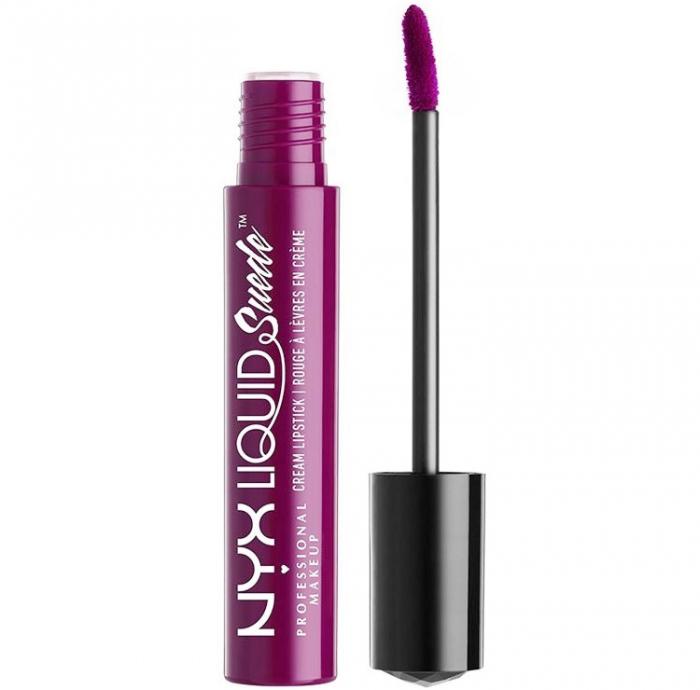 Ruj lichid mat NYX Professional Makeup Liquid Suede Cream, 41 Electric slide, 4 ml-big
