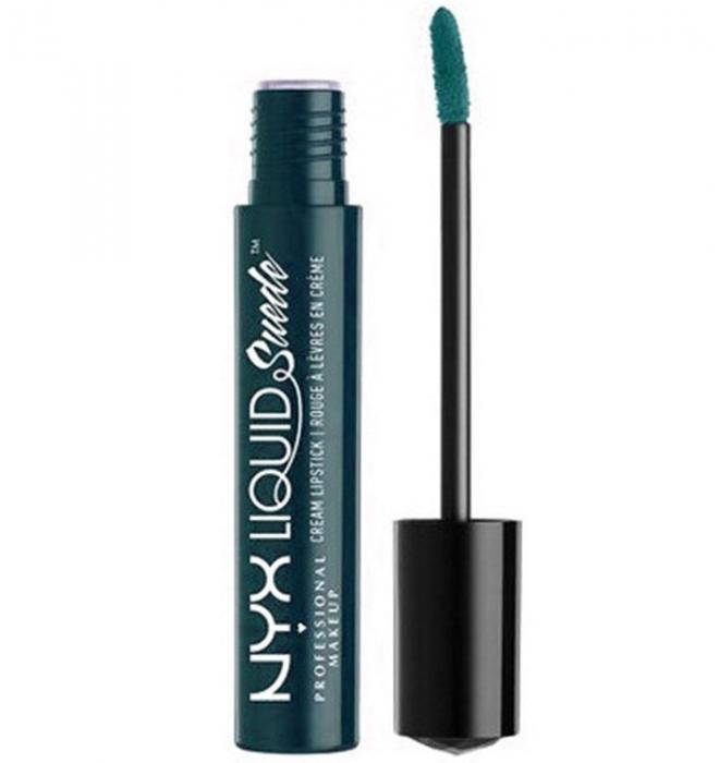 Ruj lichid mat NYX Professional Makeup Liquid Suede Cream, 42 Disruptive, 4 ml-big