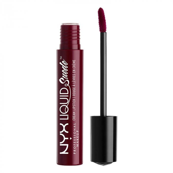Ruj lichid mat NYX Professional Makeup Liquid Suede Cream, 12 Vintage, 4 ml-big