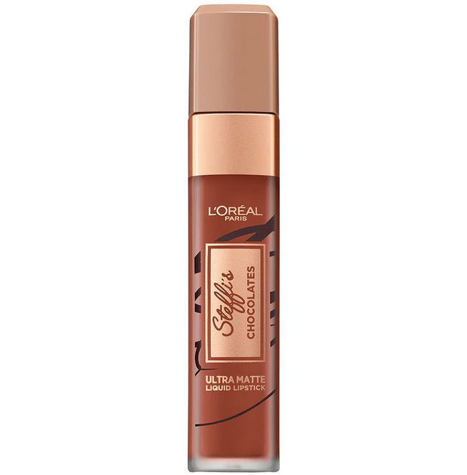 Ruj lichid ultra mat rezistent la transfer L'Oreal Paris Steffi's Chocolates, 862 Volupto Choco-big