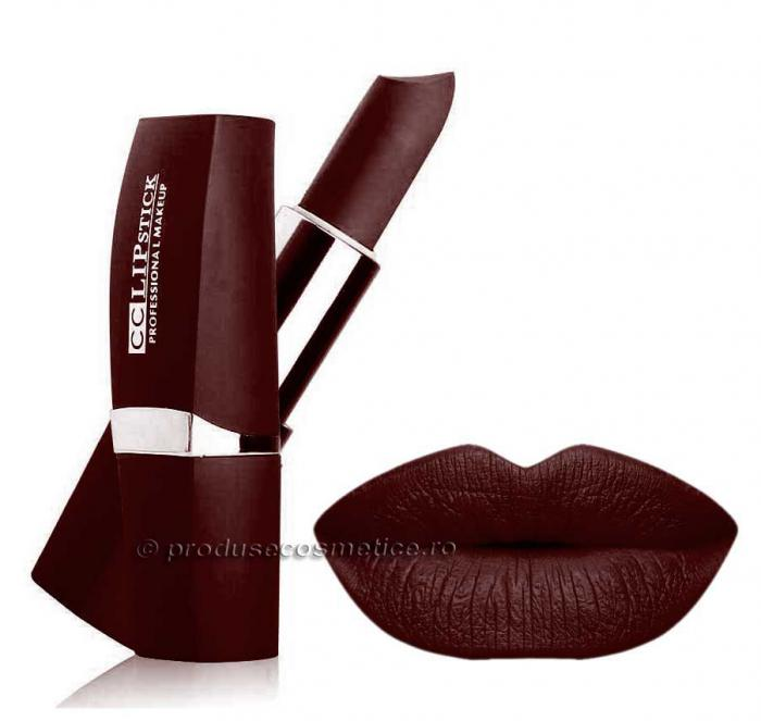 Ruj Mat Profesional Kiss Beauty CC Lips - 22 Rich Wine-big