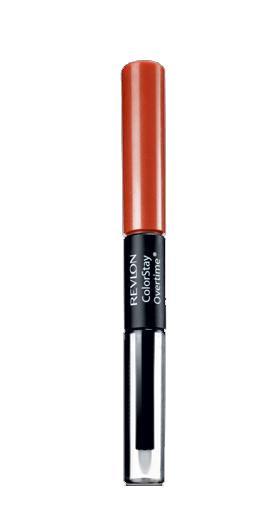 Ruj Rezistent Revlon ColorStay Overtime, 350 Bare Maximum, 2ml + Top Coat, 2ml-big