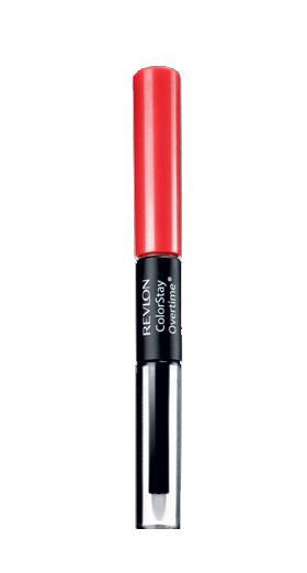 Ruj Rezistent Revlon ColorStay Overtime, 040 Forever Scarlet, 2ml + Top Coat, 2ml-big