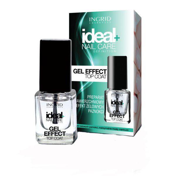 Lac de unghii pentru acoperire cu efect de gel INGRID Ideal Gel Effect Top Coat, 7 ml-big