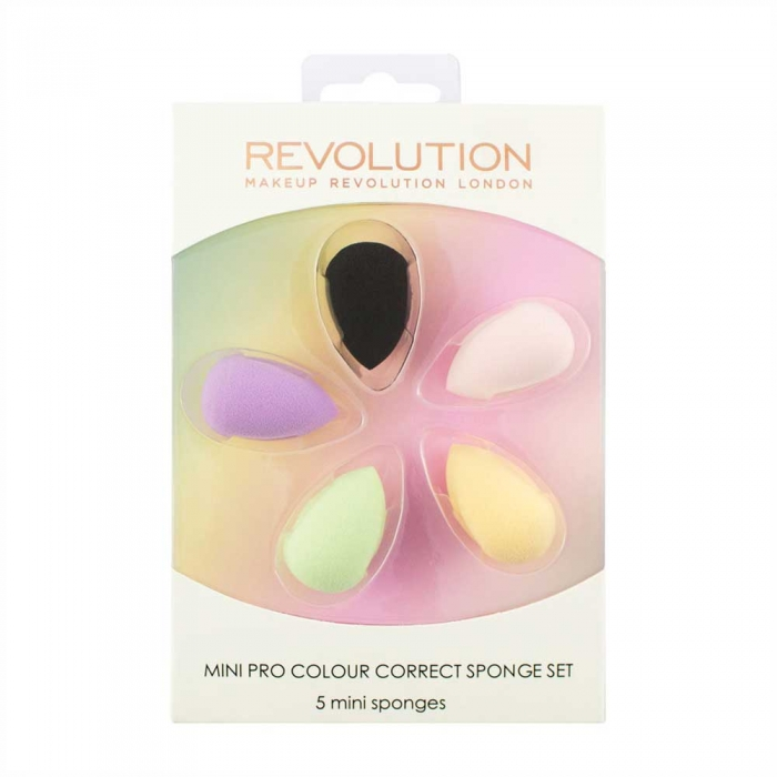 Set 5 Mini Buretei Makeup Revolution Mini Pro Colour Correct Sponge Set-big
