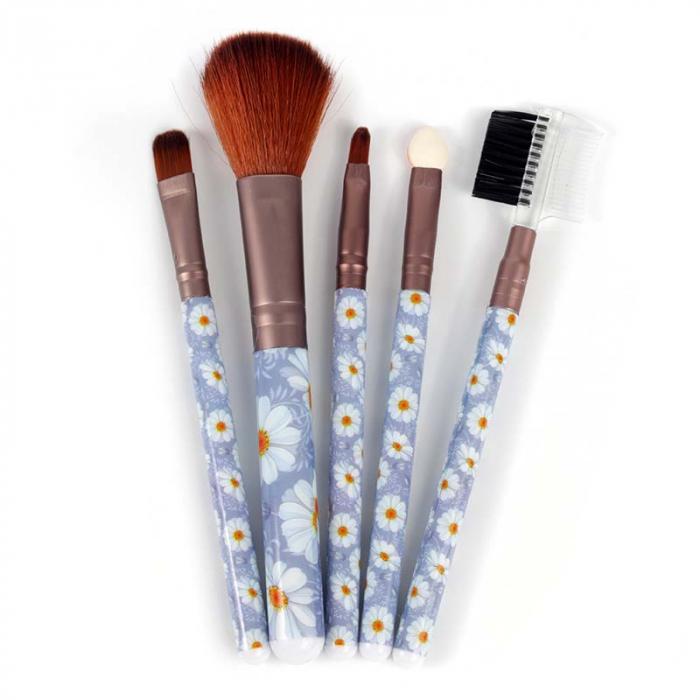 Set 5 Pensule Practice pentru machiaj, Blue Flowers 2-big
