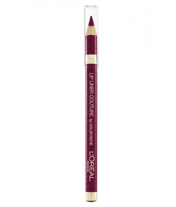 Set Buze L'Oreal Paris Color Riche Matte Lip Kit: Ruj 430 Mon Jules si Creion de Buze 374 Intense Plum-big