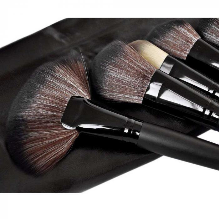 Set de 24 Pensule Profesionale din par natural Top Quality Hair, Black-big