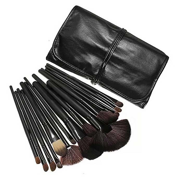 Set de 24 Pensule Profesionale Top Quality Lilyz, mix de par natural, Black-big