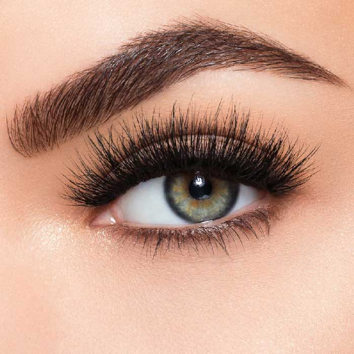 Set Gene False simple de Tip Banda, Eyelashes 9-big