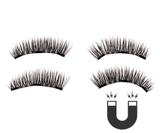 Set Gene False cu prindere magnetica in 3 magneti, Black Diamond, Eyelash 019-big