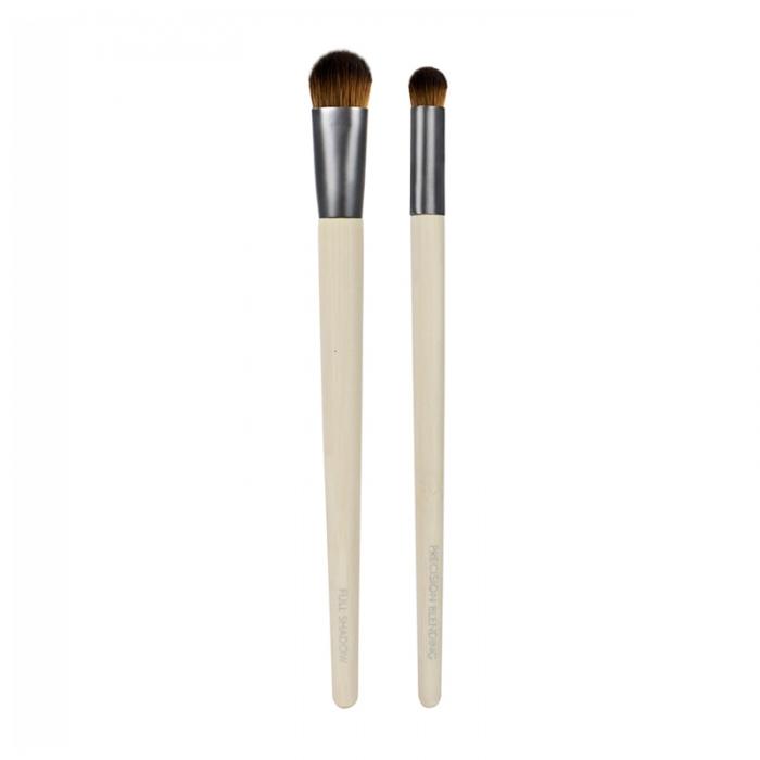 Set 2 pensule Ecotools Ultimate Concealer Duo Cover and Blend pentru aplicarea coretorului si blending-big