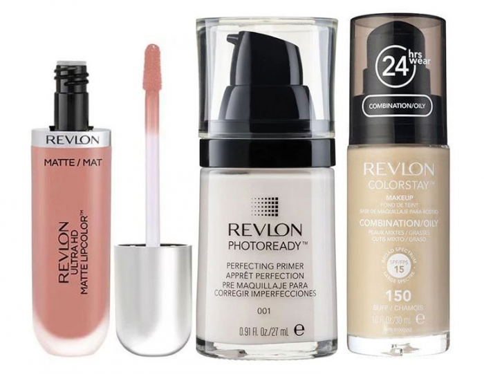 Set REVLON COLORSTAY Seduction, Ten Gras si Mixt cu Fond de Ten, 150 Buff, Primer Photoready si Ruj Mat 630-big