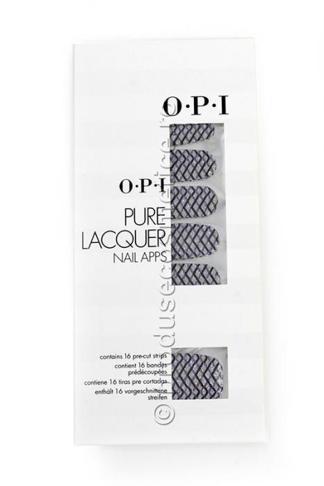 Pachet 16 Abtibilduri Pentru Unghii OPI Pure Lacquer - Zig Zag Sparkle-big
