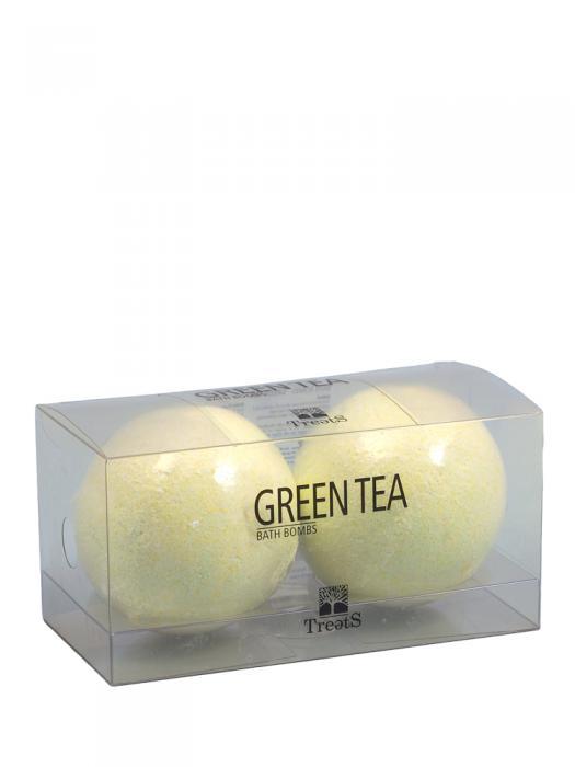 Set 2 Bile Efervescente de Baie TREETS cu Ceai Verde - 2 x 180 gr-big